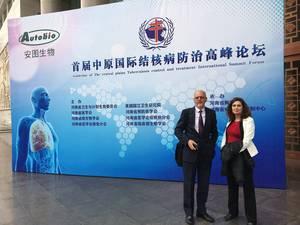 PredictTB members Prof. Gerhard Walzl (Stellenbosch University) and Dr. Laura Via (NIH) at the China meeting